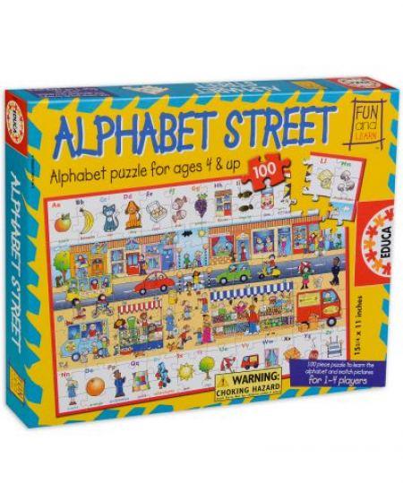 Пъзел 100 части Улицата с буквите - Alphabet street