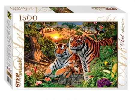 Пъзел How many tigers? 1500 елемента