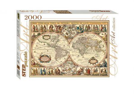 Пъзел Historical map of the world 2000 елемента