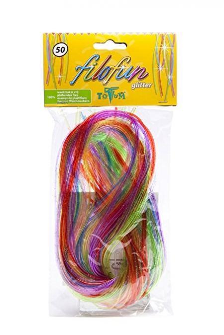 Цветни нишки за плетене FILOFUN GLITTER